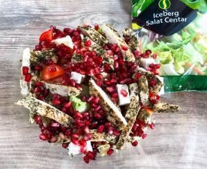 salata sa piletinom-salata sa piletinom i sirom-salata sa narom-salata sa piletinom i narom-salata-ručak-večera-recept-obrok-jelo-Iceberg Salat Centar-Klub Zdravih Navika