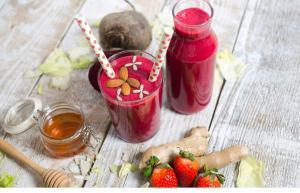doručak-užina-recept-smoothie-smuti-šejk-obrok-cvekla-raw-vegan-iceberg salat centar-klub zdravih navika-video-veseli zalogaji