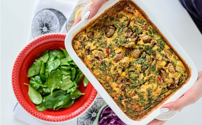 Kaserola-kaserola sa povrćem-pita-jaja-povrće-večera-ručak-vegetarijansko jelo-tofu-tofu sir-recept-klub zdravih navika-iceberg salat centar