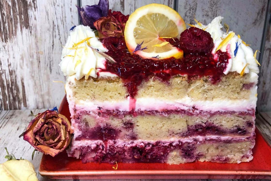 Torta sa limunom i malinama