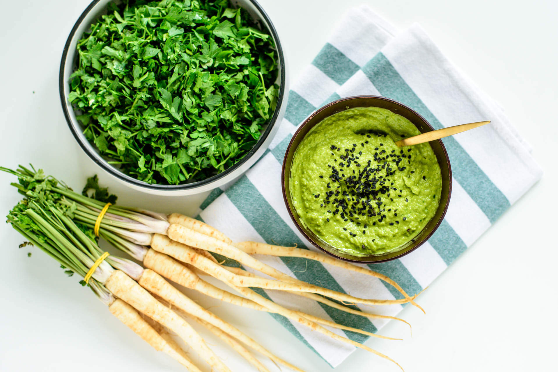 pea and rocket humus