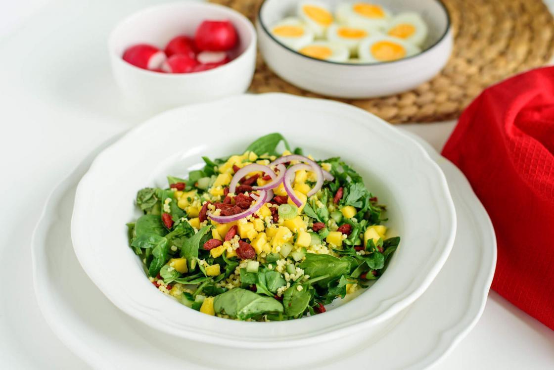 libanska salata, godži bobice