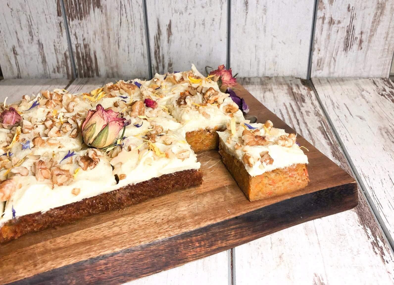potato cake with walnuts