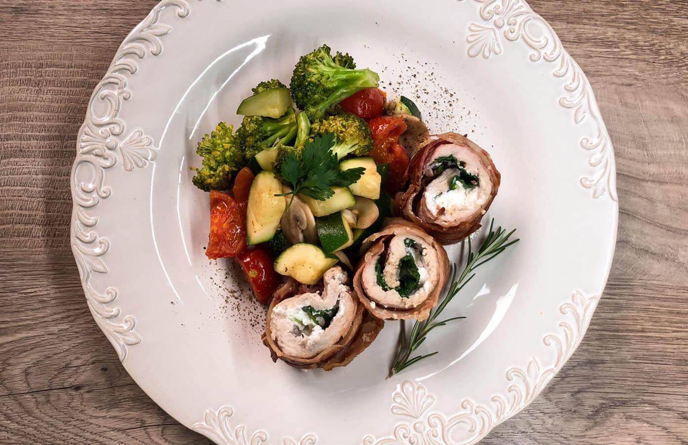 rolovano meso sa povrćem