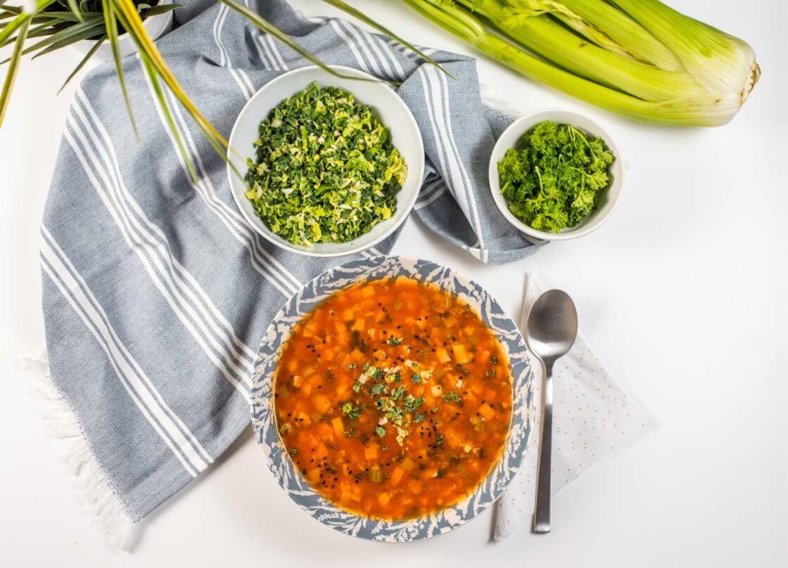 Minestrone supa sa povrcem