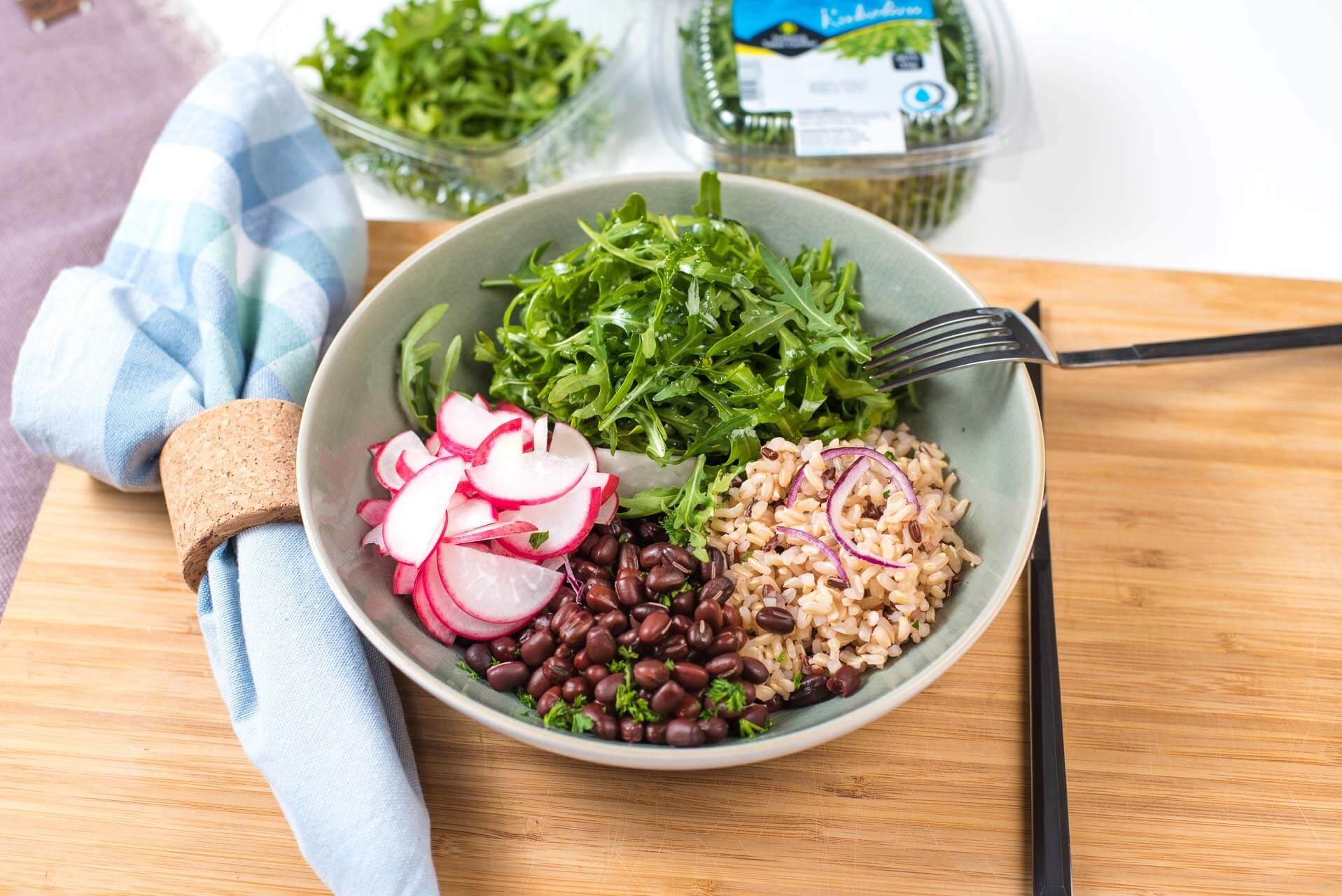 rižoto sa pasuljem, pasulj, azuki pasulj, pirinač sa pasuljem, Iceberg Salat Centar, Klub Zdravih Navika, ručak, rižoto za ručak, recept za rižoto